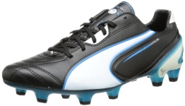 Puma King SL FG, Herren Fußballschuhe, Schwarz (black-white-fluo blue 07), 43 EU (9 Herren UK) - 1