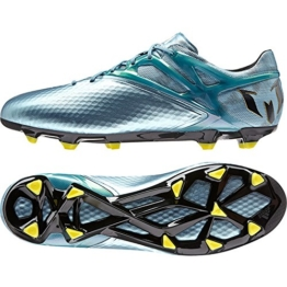 adidas Performance Messi 15.1 FG/AG, Herren Fußballschuhe, Silber (Matte Ice Metallic/Bright Yellow/Core Black), 43 1/3 EU (9 Herren UK) -