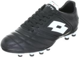 Lotto Sport STADIO POTENZA FG N4518, Herren Sportschuhe - Fußball, Schwarz (BLACK/WHITE), EU 39 (US 7) -